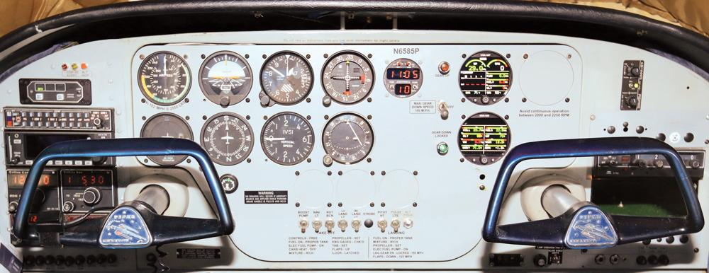 Panel piper flyer association avionics  at virtualis.co