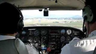 Flying the Piper Twin…
