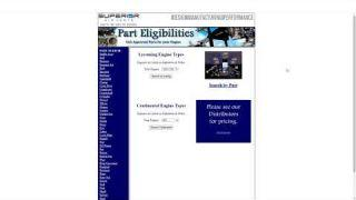 Superior Air Parts Part Eligibilities Tool