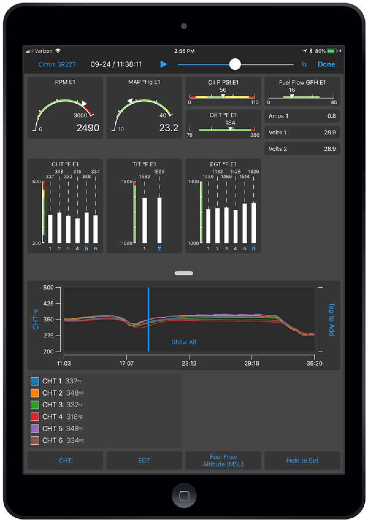 Garmin Pilot App Launches Real-Time Engine Data Display