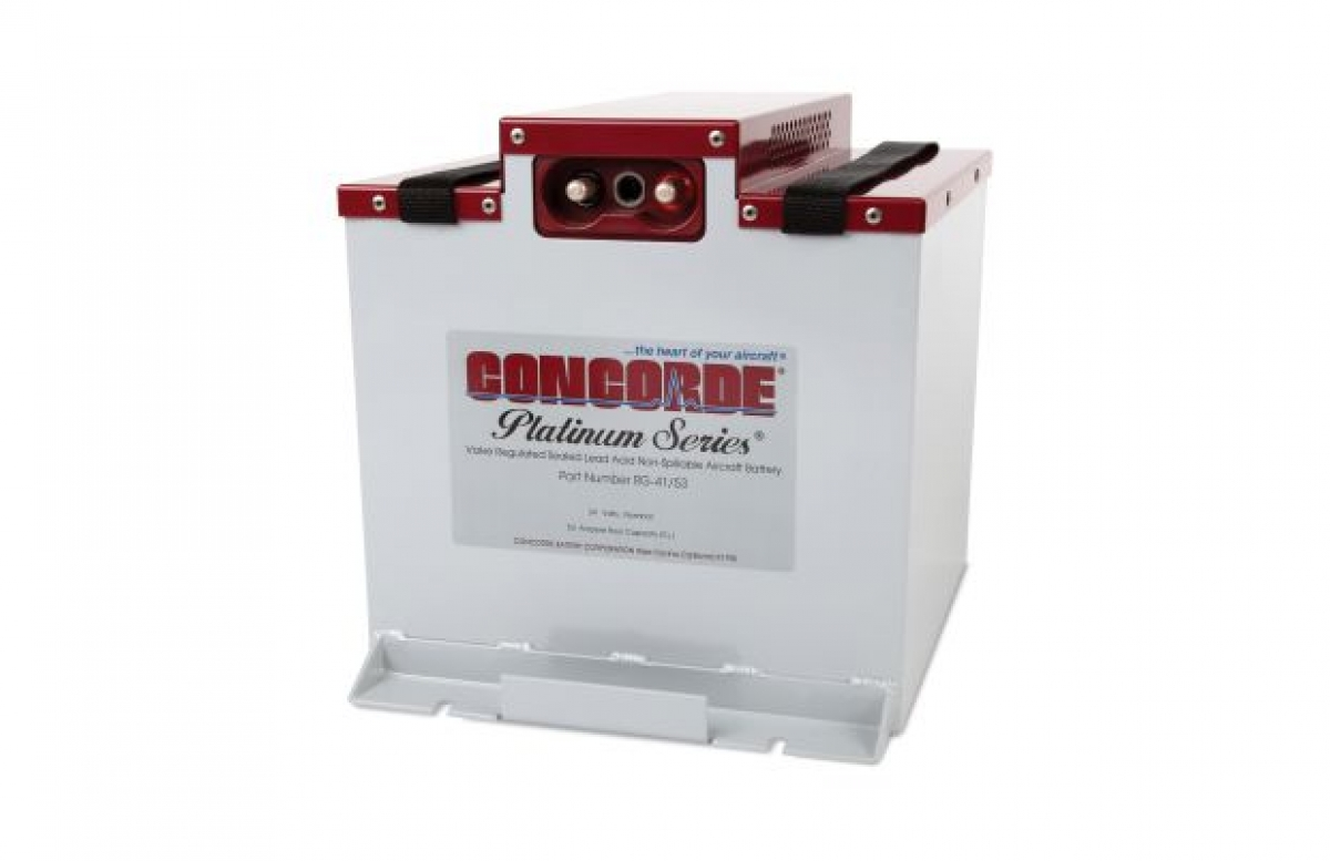 Concorde Battery Higher Capacity RG-41/53 for Piper M500 & M600  Receives FAA STC Approval
