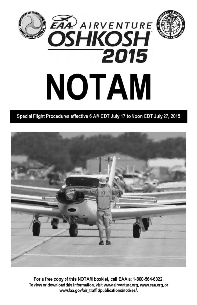 EAA AirVenture Oshkosh 2015 NOTAM Now Available for Pilots Flying to Oshkosh