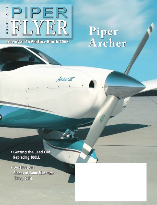 August 2011 Piper Flyer magazine