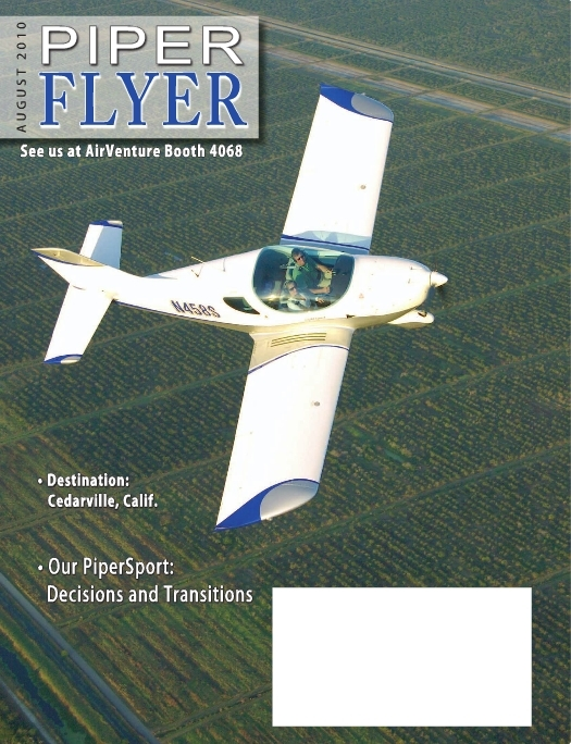 August 2010 Piper Flyer magazine