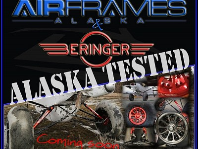 Alaskan Landing Gear, 6'' Wheel/Brake System FAA STC Approved for PA-18 Super Cub