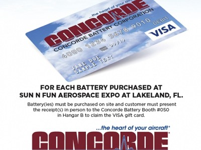 Concorde Battery Corporation is Excited to Engage at Sun 'n Fun Aero Expo 2021 –